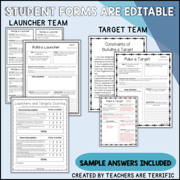 STEM Activity Challenge Launchers and Targets