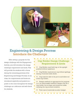 NGSS STEM Engineering Challenge for Primary Students- Cup Holder Challenge