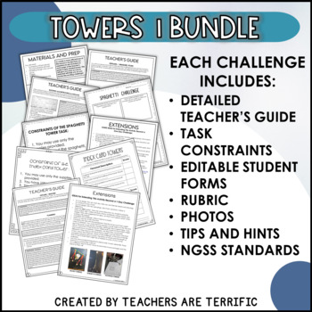 STEM Activities Challenge Bundle Towers Set 1