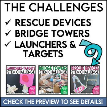 STEM Activities Challenge Bundle: Same Supplies Two Tasks