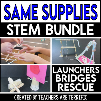 STEM Activities Challenge Bundle Same Supplies Two Tasks