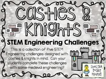STEM Engineering Challenges Pack ~ Castles & Knights ~ Set of Five!