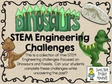 STEM Engineering Challenges Pack ~ Dinosaurs and Fossils ~ Set of Five!