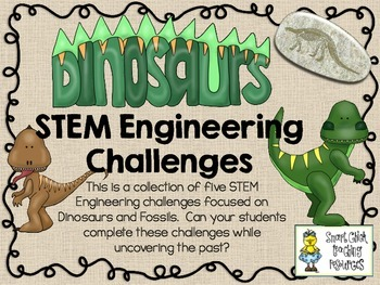 STEM Engineering Challenges Pack ~ Dinosaurs and Fossils ~