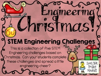 Christmas STEM ~ STEM Engineering Challenges Pack ~ Set of Five!