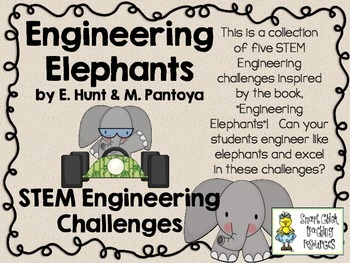 STEM Engineering Challenges Pack ~ Engineering Elephants ~ Set of Five!