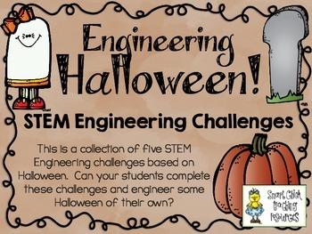 STEM Engineering Challenges Pack ~ Engineering Halloween ~ Set of Five!