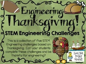 Thanksgiving STEM ~ STEM Engineering Challenges Pack ~ Set of Five!
