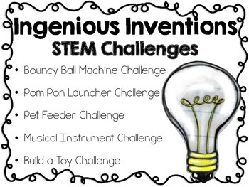 STEM Engineering Challenges Pack ~ Ingenious Inventions~ Set of Five!