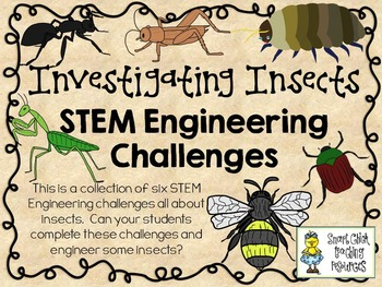 STEM Engineering Challenges Pack ~ Investigating Insects~ Set of Six!
