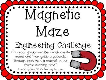 STEM Engineering Challenges Pack ~ Marvelous Magnets~ Set of Five!