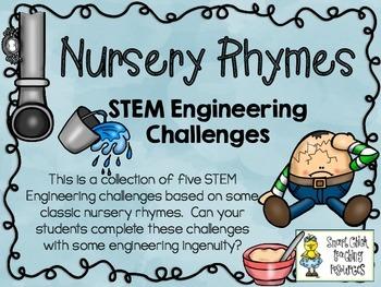 STEM Engineering Challenges Pack ~ Nursery Rhymes ~ Set of Five!