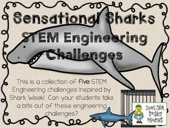STEM Engineering Challenges Pack ~ Sensational Sharks ~ Se