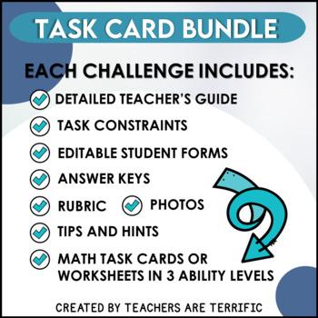STEM Activities Challenge Bundle featuring Task Cards