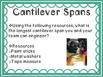STEM Engineering Design Challenge: Cantilever Spans