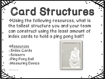 STEM Engineering Design Challenge: Card Structure Towers