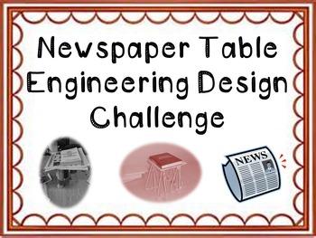 STEM Engineering Design Challenge: Newspaper Tables