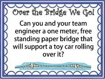 STEM Engineering Design Challenge: Over the Bridge We Go!