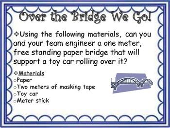 STEM Engineering Design Challenge: Over the Bridge We Go!