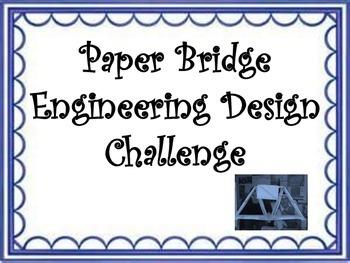 STEM Engineering Design Challenge: Paper Bridges