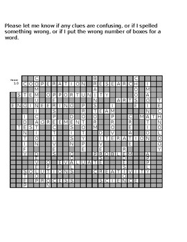 Stem Engineering Design Process Crossword Puzzle 1 35 Clues