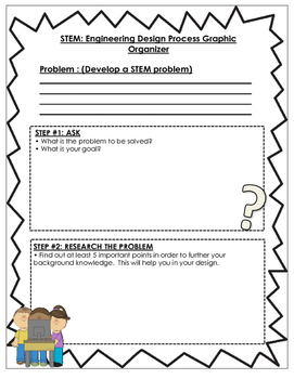 STEM- Engineering Design Process Graphic Organizers