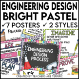 STEM Engineering Design Process Posters in  Bright Pastels