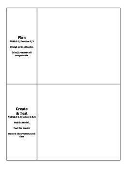 STEM - Engineering Design Process Recording Sheet