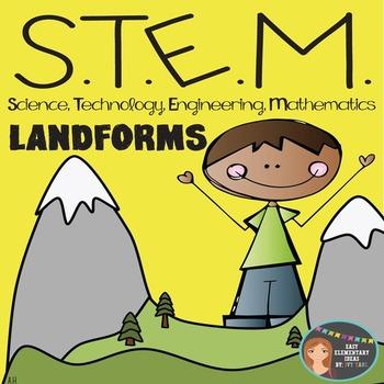 STEM Engineering - Landforms PDF & Powerpoint {Elementary Grades}