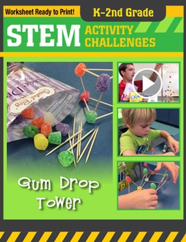 STEM Engineering Project: Building a Gumdrop Tower K-2nd Grade