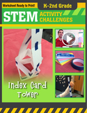 STEM Engineering Project: Building a Index Card Tower K-2nd Grade
