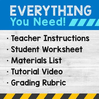 STEM Engineering Project: Building a Straw Bridge {3rd, 4th & 5th Grade}