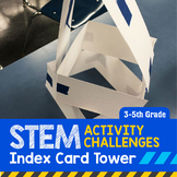 STEM Engineering Project: Index Card Tower {3rd, 4th & 5th Grade}