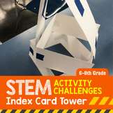 STEM Engineering Project: Index Card Tower {Middle School}