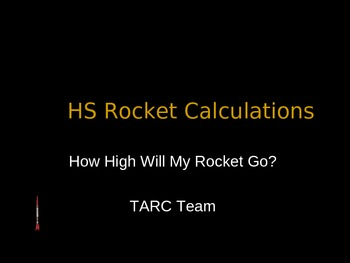 STEM Engineering - Rocket Calculations