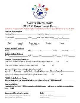 STEM Enrollment Form