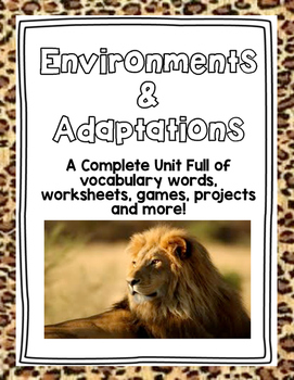 STEM Environments and Adaptations Unit