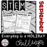 September STEM Challenge Everyday is a Holiday