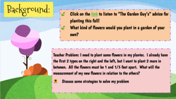 STEM- Extending Patterns with Fractions: Gardening Dilemma
