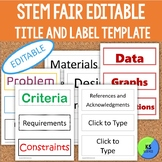 STEM Fair Project Board Title and Label Template   Editable
