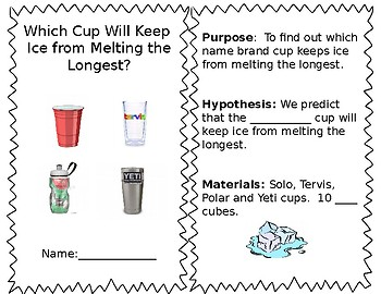 STEM Fair- Which Cup keeps Ice coldest?