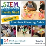 Bundle: STEM Family Night Planning Guide, STEM Activity Instructions, Posters