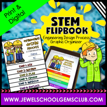 STEM Flipbook (Engineering Design Process Graphic Organizer)