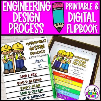 Engineering Design Process Flip Book (STEM Journal Pages)