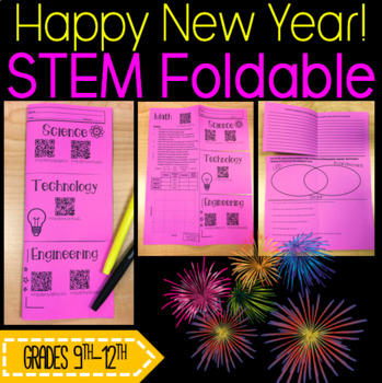 STEM Foldable: New Years Ball Drop
