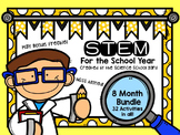 STEM Challenges For the Year Including Back To School STEM Pack