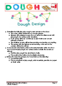 STEM For Young Learners: DOUGH