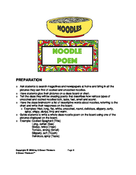 STEM For Young Learners: NOODLES