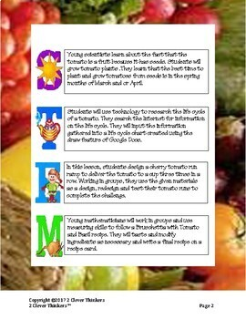 STEM For Young  Learners: TOMATOES