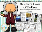 STEM: Forces & Motion Newton's Laws Writing Prompts and Task Cards